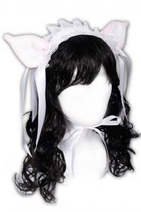 Ушки Hime Sweet Kitty Lolita Headpiece (pink/white)